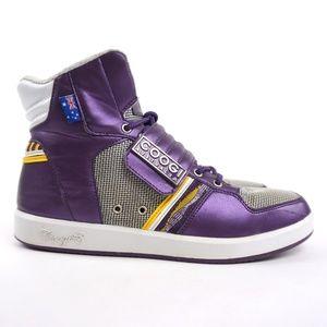 COOGI Australia High Top Sneakers Shoes Metallic